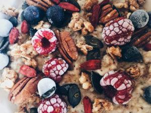 Decoración porridge de cereales