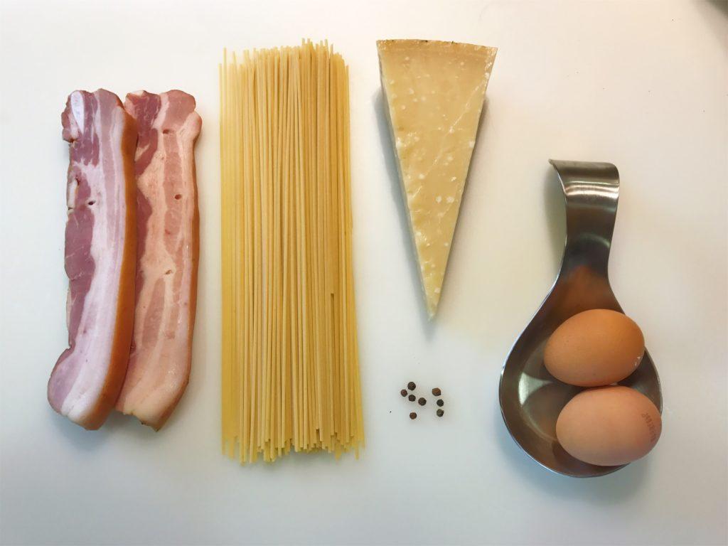 Ingredientes pasta a la carbonara - El lunes cierro el pico