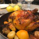Pollo a la miel con limón y romero