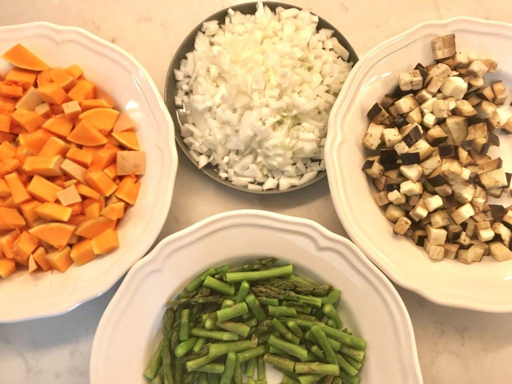Verdura troceada y pre-cocinada